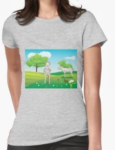 Goat and Green Lawn3 Womens Fitted T-Shirt