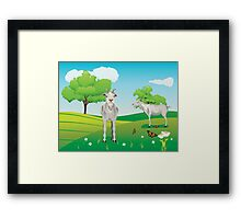 Goat and Green Lawn3 Framed Print