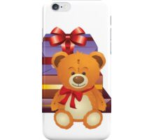 Teddy Bear with Gift Box 2 iPhone Case/Skin