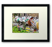 Kegs in England Framed Print