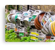 Kegs in England Canvas Print