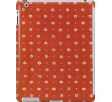 Vintage red fabric with small white flowers iPad Case/Skin