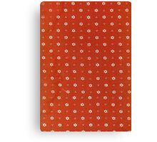 Vintage red fabric with small white flowers Canvas Print