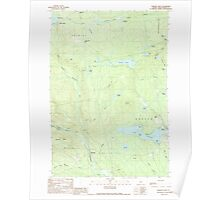 Maine USGS Historical Map Monson West 102765 1989 24000 Poster