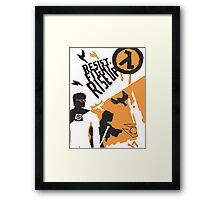 Resist - Fight - Riseup Framed Print