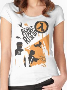Resist - Fight - Riseup Women's Fitted Scoop T-Shirt