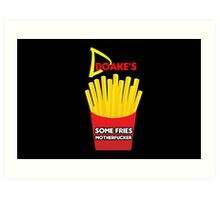 Some Fries Motherfucker - Doakes/Dexter Art Print