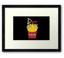 Some Fries Motherfucker - Doakes/Dexter Framed Print