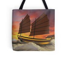 Chinese Junk in Rough Seas - all products Tote Bag