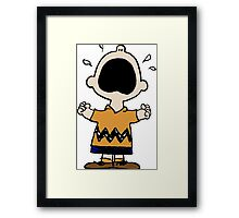 Charlie Brown crying Framed Print