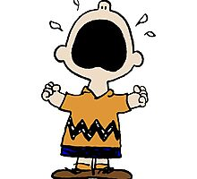 Charlie Brown crying Photographic Print