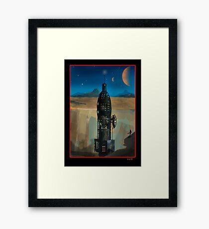 Moon Base RD 9 Framed Print