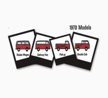 1970  VW Kombi Bus T-shirt by KellieBee