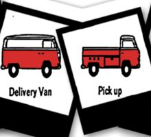 1970  VW Kombi Bus T-shirt Sticker