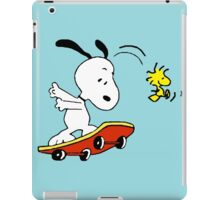 Snoopy on skate iPad Case/Skin