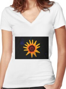 Shinning Star Women's Fitted V-Neck T-Shirt