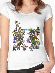 Epic 8 bit Battle! Women's Fitted Scoop T-Shirt