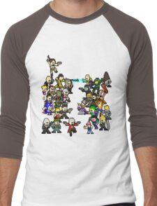Epic 8 bit Battle! Men's Baseball ¾ T-Shirt