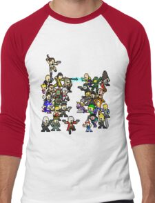 Epic 8 bit Battle! Men's Baseball ¾ T-Shirt