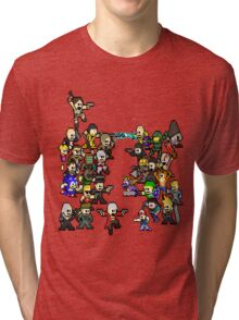 Epic 8 bit Battle! Tri-blend T-Shirt