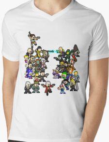 Epic 8 bit Battle! Mens V-Neck T-Shirt