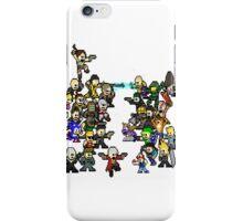 Epic 8 bit Battle! iPhone Case/Skin