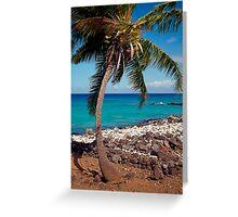 Hawaiian Palm Tree Greeting Card