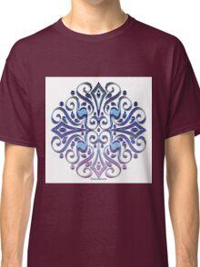 Blue Ornate Mandala Classic T-Shirt