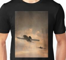 V1 Buzzbomb being chased by a Spitfire Unisex T-Shirt