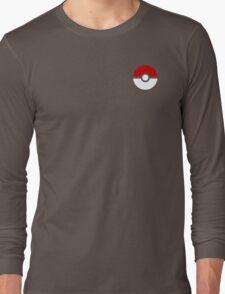 Subtle pokeball pokemon logo red and black - no words Long Sleeve T-Shirt