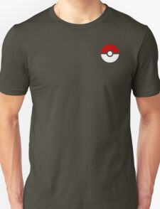 Subtle pokeball pokemon logo red and black - no words T-Shirt
