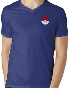 Subtle pokeball pokemon logo red and black - no words Mens V-Neck T-Shirt