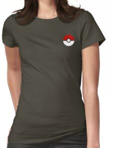 Subtle pokeball pokemon logo red and black - no words Womens Fitted T-Shirt