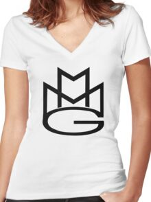 MMG Women's Fitted V-Neck T-Shirt