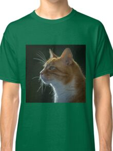 Ginger Tom cat staring Classic T-Shirt
