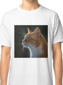 Ginger Tom cat staring Classic T-Shirt
