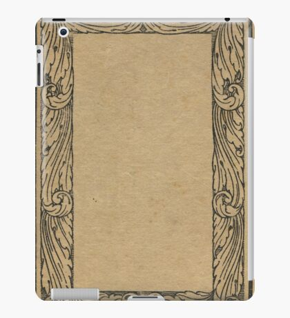 Antique bookcover with floral frame iPad Case/Skin