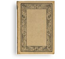 Antique bookcover with floral frame Canvas Print