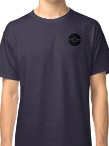 Subtle pokeball pokemon logo black - no words Classic T-Shirt
