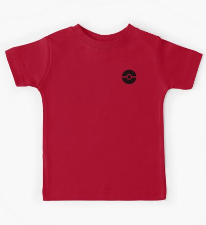 Subtle pokeball pokemon logo black - no words Kids Tee