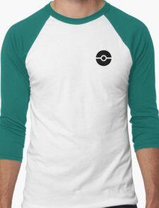 Subtle pokeball pokemon logo black - no words Men's Baseball ¾ T-Shirt