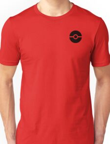 Subtle pokeball pokemon logo black - no words Unisex T-Shirt