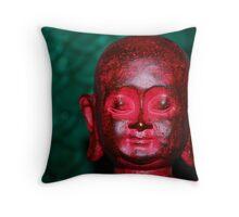 Buddha Red Throw Pillow