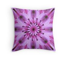 Purple Lily Throw Pillow