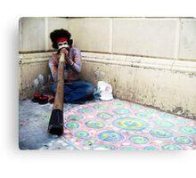 Didgeridoo Busker Metal Print
