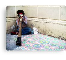 Didgeridoo Busker Canvas Print