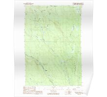Maine USGS Historical Map Monument Brook 102767 1989 24000 Poster