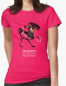 Xenomorph Warrior Princess Womens Fitted T-Shirt