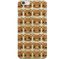 Bear with many moustaches iPhone Case/Skin