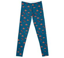 Deep Blue Sea (Blue/Orange) Leggings